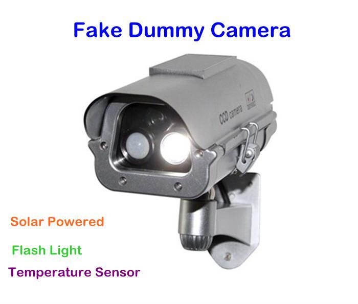 2017 solar powered cctv security fake outdoor dummy camera. Black Bedroom Furniture Sets. Home Design Ideas