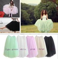 Wholesale Bouffant Dress Women - Fashion girls skirt. Women Princess Fairy Style 5 layered Tulle Bouffant Skirt.Fashion girls dress Five big swing gauze tutu dress