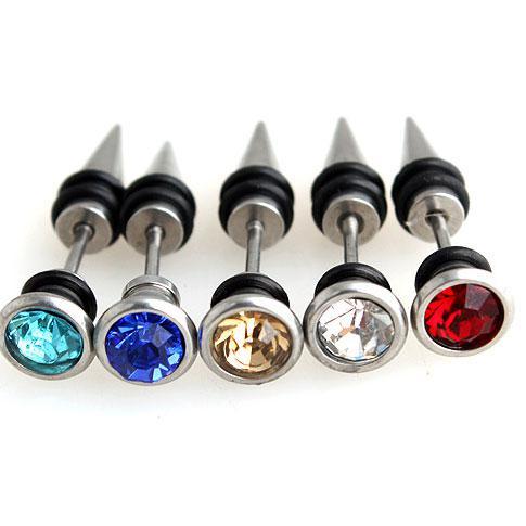5 ensembles 316L boucles d'oreille en acier chirurgical multicolore oreille Stud corps piercing bijoux 100% excellente qualité