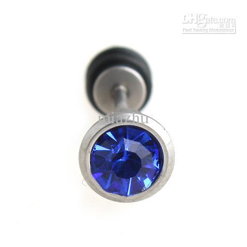Orecchini in acciaio chirurgico 316L Orecchini a bottone multicolore Gioielli piercing nel corpo 100% Qualità eccellente
