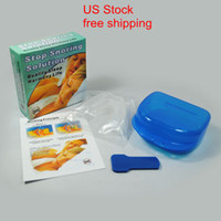 Wholesale Kit Sleep - US Stock -Stop Snoring Mouthpiece Anti Snore Apnea Cure No Snore Sleeping Aid Night Tray Anti Snoring & Apnea Kit,apnea mouth tray 20pcs