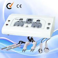 maquinas de microcurrent salon al por mayor-3 en 1 ultrasónico micro Face facial Microcorriente BIO Facial Machine para el uso del salón Au-8201