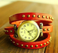 Wholesale Cow Leather Watch Punk - Lose Money Promotion!! Punk Cow Leather Watches, High Quality ROMA Watches Header Free shipping