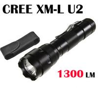 lampe de poche u2 achat en gros de-502B XML U2 Ultrafire WF-502B Lampe Cree XM-L U2 1300 Lumen 5-Mode LED lampe de poche lampe torche par 18650 batterie + étui