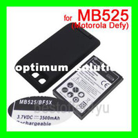 Wholesale Defy Battery Bf5x - 3500mAh High Capacity Extended Battery with Back Cover For Motorola ME525 MB525 MB520 DEFY BF5X WITH tracking code