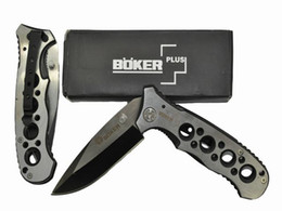 Wholesale China Hunting Knifes - Free Shipping Boker plus 083 pocket knife hunting Surrival knife Camping knife,gift knife knives with clip & nylon bag Made in China