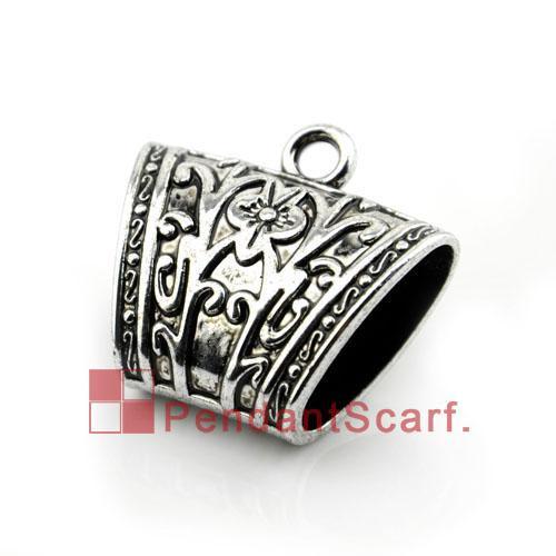 50PCS/LOT, Hot Fashion DIY Jewellery Scarf Pendant Accessories Gun Black Plastic CCB Charm Slide Holding Tube Bails, Free Shipping, AC0081A