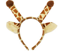 Wholesale Cheap Wholesale School Supplies - 10pcs lot New Arrivals Giraffe Model Cheap Masks Mardi Gras Mask for Women Party Supplies MA45