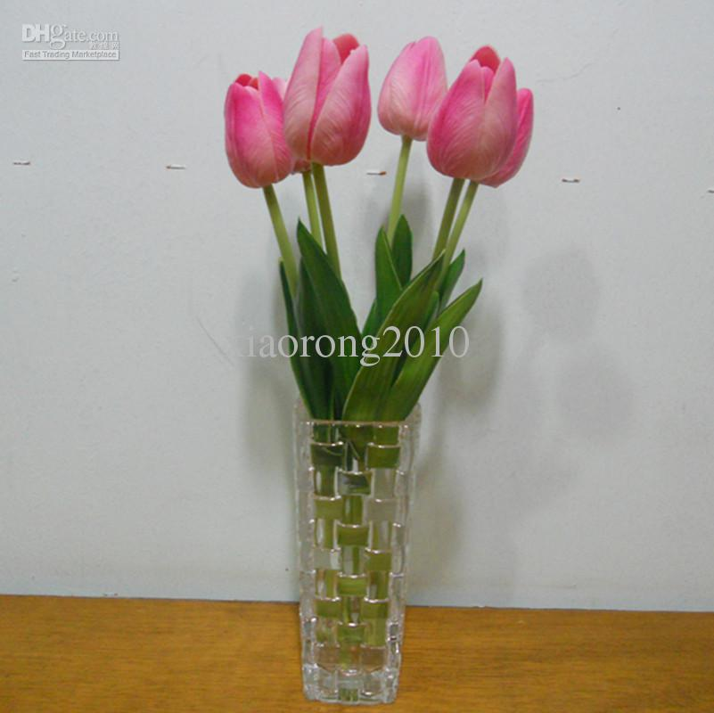 Kunstmatige tulpen 100 stks 30cm Real Touch Artificial Simulation Tulip Flower for Wedding Bridal Bouquets Decoratieve bloemen