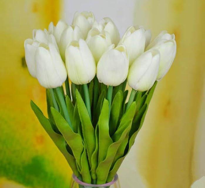 Tulipani artificiali 30cm Real Touch Simulazione artificiale Tulip Flower la cerimonia nuziale Mazzi da sposa Fiori decorativi