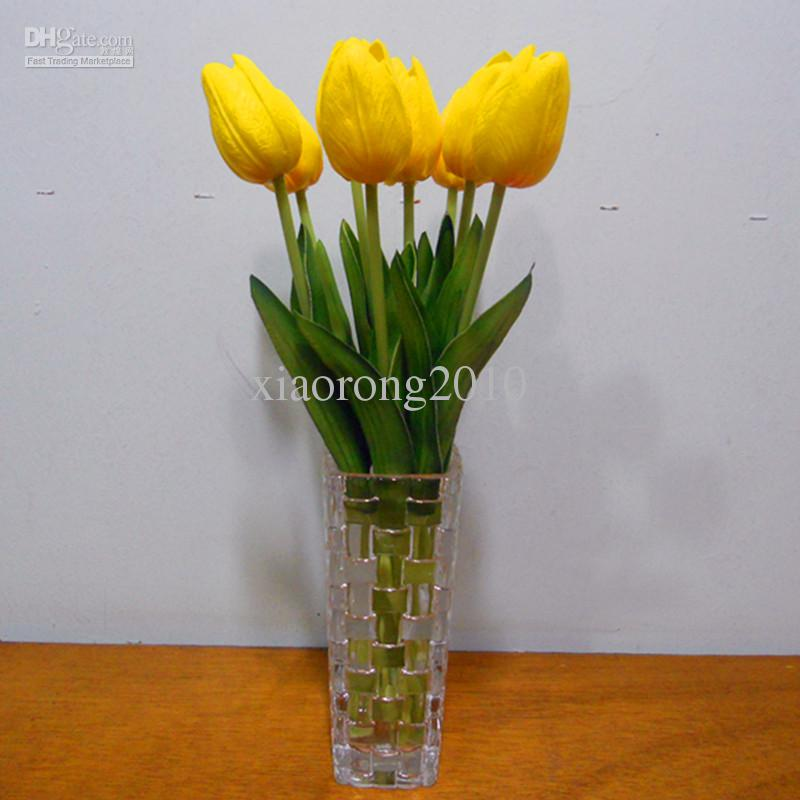 Kunstmatige tulpen 100 stks 30 cm PU real touch nep simulatie tulpen tulp bloem bruiloft bruids boeketten decoratieve bloemen