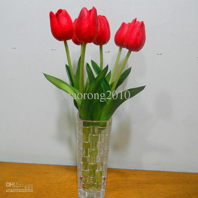 Tulipani artificiali 30cm PU Tocco reale Simulazione falsa Tulipani Tulipano Fiori Matrimonio Mazzi di fiori Fiori decorativi