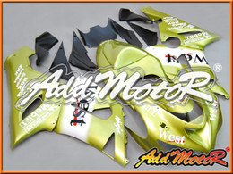 Wholesale Kawasaki West Fairings - Addmotor Injection Mold Fairing For Kawasaki ZX-6R ZX6R ZX 6R 2005 2006 05 06 Gold West Motorcycle Fairings Body Kit K6549+5 Free Gifts