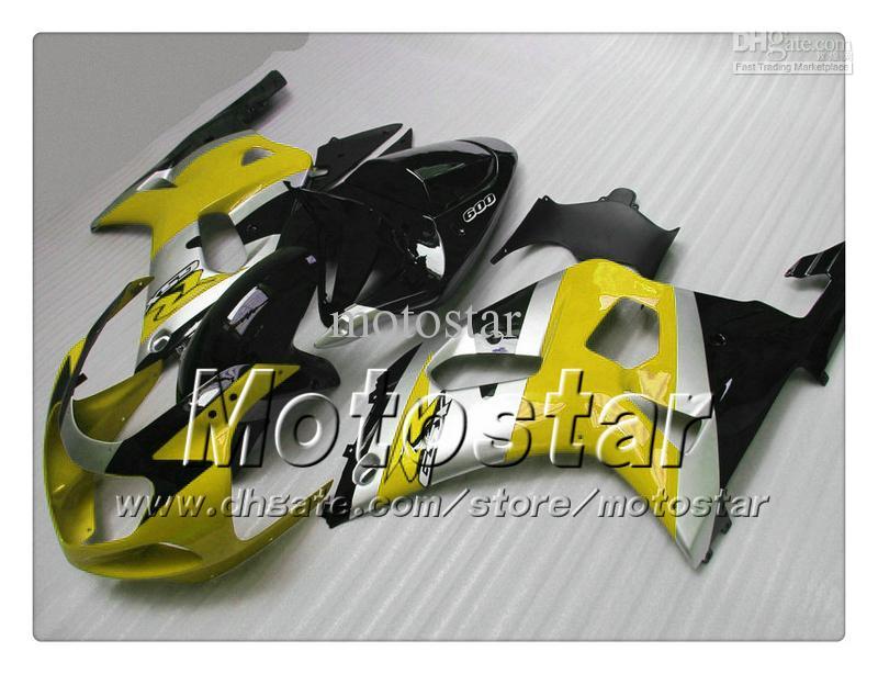 Carénages pour SUZUKI GSXR 600 750 K1 2001 2002 2003 GSXR600 GSXR750 01 02 03 R600 R750 ensemble carénage jaune noir brillant RR45