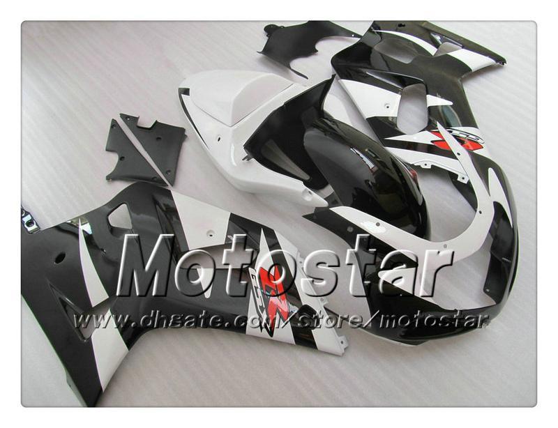 Bodywork fairings for SUZUKI GSXR 600 750 K1 2001 2002 2003 GSXR600 GSXR750 01 02 03 R600 R750 white black fairing set RR47