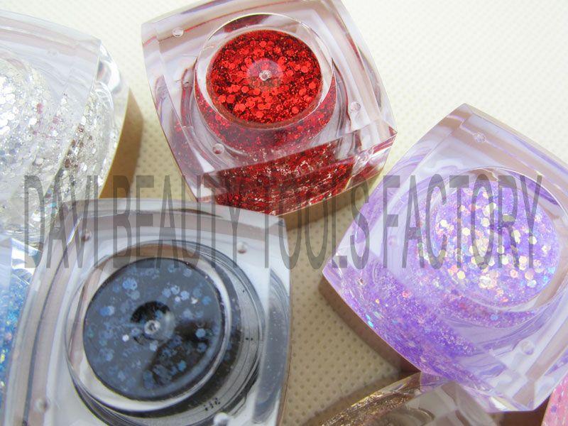 Gratis verzending UV Glitter Nail Gel 12 Kleuren Blink UV Gel Pro Nail Art Builder Gel Groothandel
