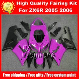 Бесплатные 7 подарков ABS гонки обтекатель комплект для Kawasaki Ninja ZX 6R 2005 2006 ZX6R 05 06 ZX-6R G7m обтекатели высокого класса фиолетовый черный мотоцикл частей cheap zx6r purple fairing от Поставщики жёлтый обтекатель zx6r