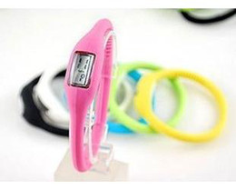 Wholesale Silicone Watch Waterproof 1atm - Hot Fashion Wrist sport Watch 1ATM waterproof anion silicone watch Wrist watch Candy Color Watch ,Free Shipping