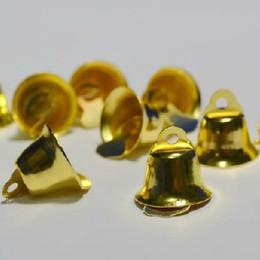 2019 mestiere all'ingrosso assortito Dia 14mm Morning Glory Design Golden campane di Natale Ornamenti di Natale Decorazione del partito 200pcs / lot XD111