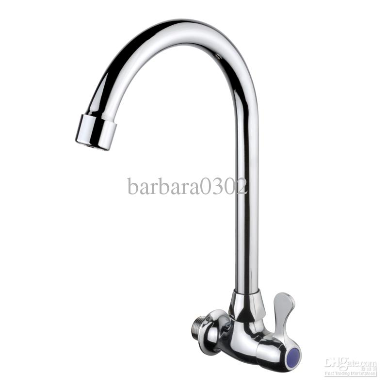 2018 Kitchen Sink Single Cold Water Mixer Tap Chrome Spray Swivel ...