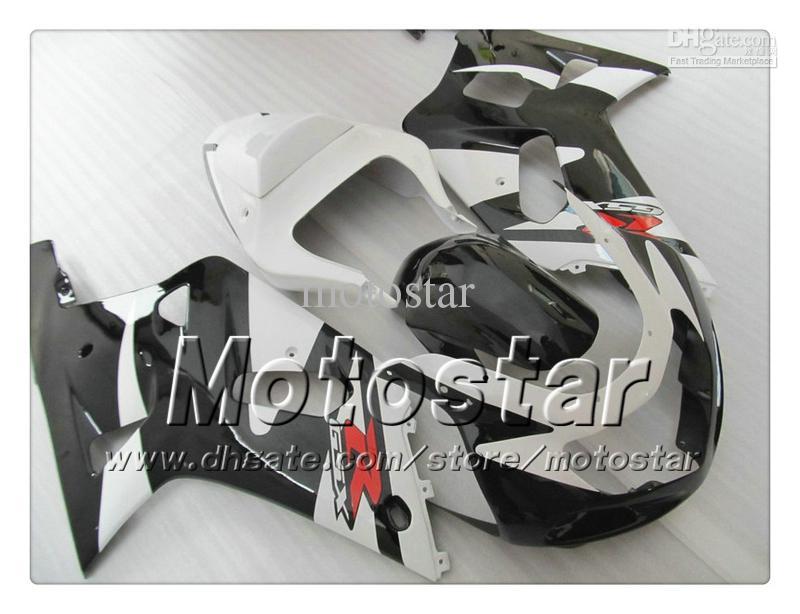 Carene carrozzeria SUZUKI GSXR 600750 K1 2001 2002 2003 GSXR600 GSXR750 01 02 03 R600 Rcarene bianco nero RR83