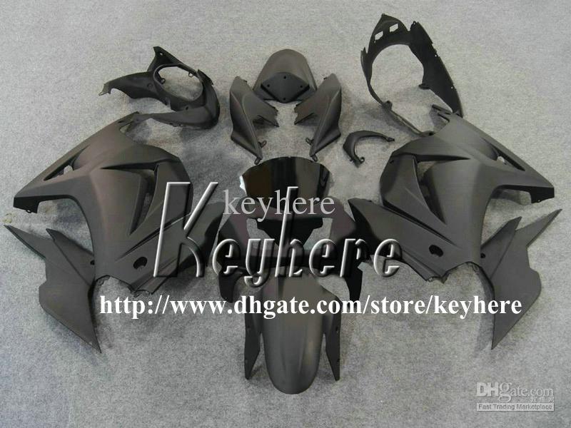 Frei 7 Geschenke Verkleidung Kit für Kawasaki Ninja ZX250R 08 09 10 11 12 EX250 250R 2008 2009 2010 2011 2012 G5m Verkleidungen neue alle flachen schwarzen Körper