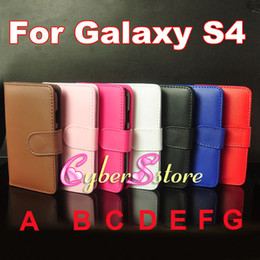 Wholesale Siv S4 - For Galaxy S4 Fashion Wallet PU leather Case Cover With Credit Card Slot Slots Pouch For Samsung SIV i9500
