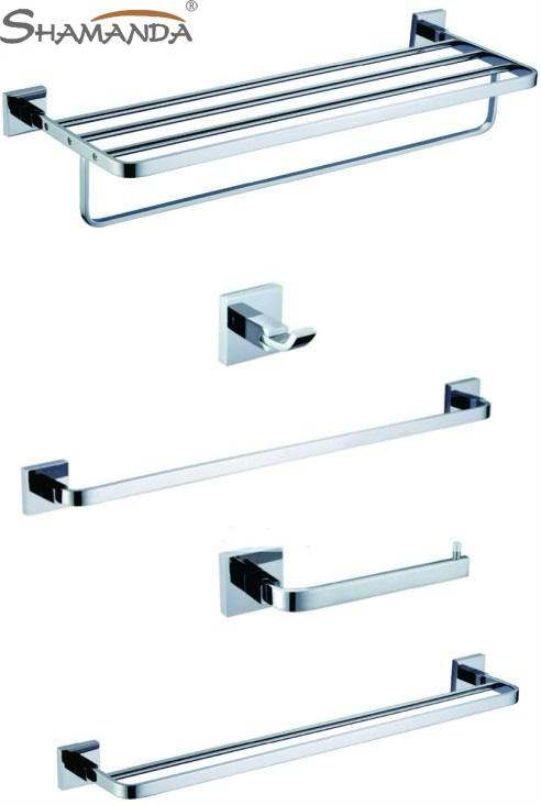 Online Cheap Brass Chrome Bathroom Accessories Set Robe Hook Paper