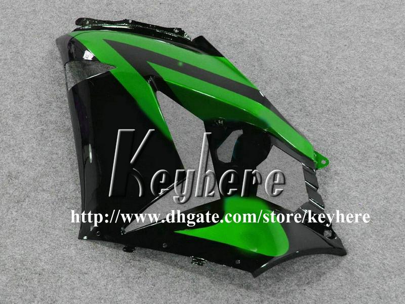 Kostenlose 7 Geschenke Verkleidung Kit für Kawasaki Ninja ZX14R 06 07 08 09 ZX 14R 2006 2007 2008 2009 ZX-14R G3n Verkleidungen hochwertige schwarz grüne Karosserie