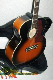 cuerdas de guitarra hechas a mano Rebajas Custom Shop Pete Townshen 200 Sunburst guitarra eléctrica acústica 200 singlecut guitarra Fishman Pickups acústica guitarra eléctrica