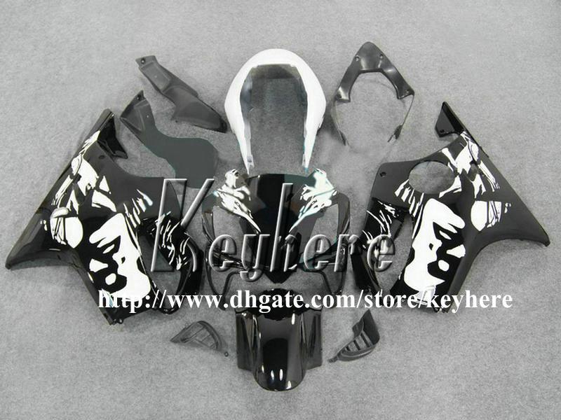 Free 7 gifts Kit de carenagem personalizado para Honda CBR600 2004 2005 2006 2007 CBR 600 04 05 06 07 carenagens F4I Carenagem de motocicleta preta branca G3h