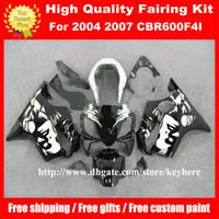 Wholesale Cbr F4i Custom Fairings - Free 7 gifts Custom fairing kit for Honda CBR600 2004 2005 2006 2007 CBR 600 04 05 06 07 F4I fairings G3h white black motorcycle bodywork