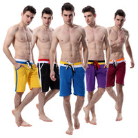 Wholesale Wholesale Pants For Men - Men's Trainer Midium Long Shorts Track Trunks Sports Running Pants For Men Mesh Quick-Dry Double DrawString New Arrival 7112