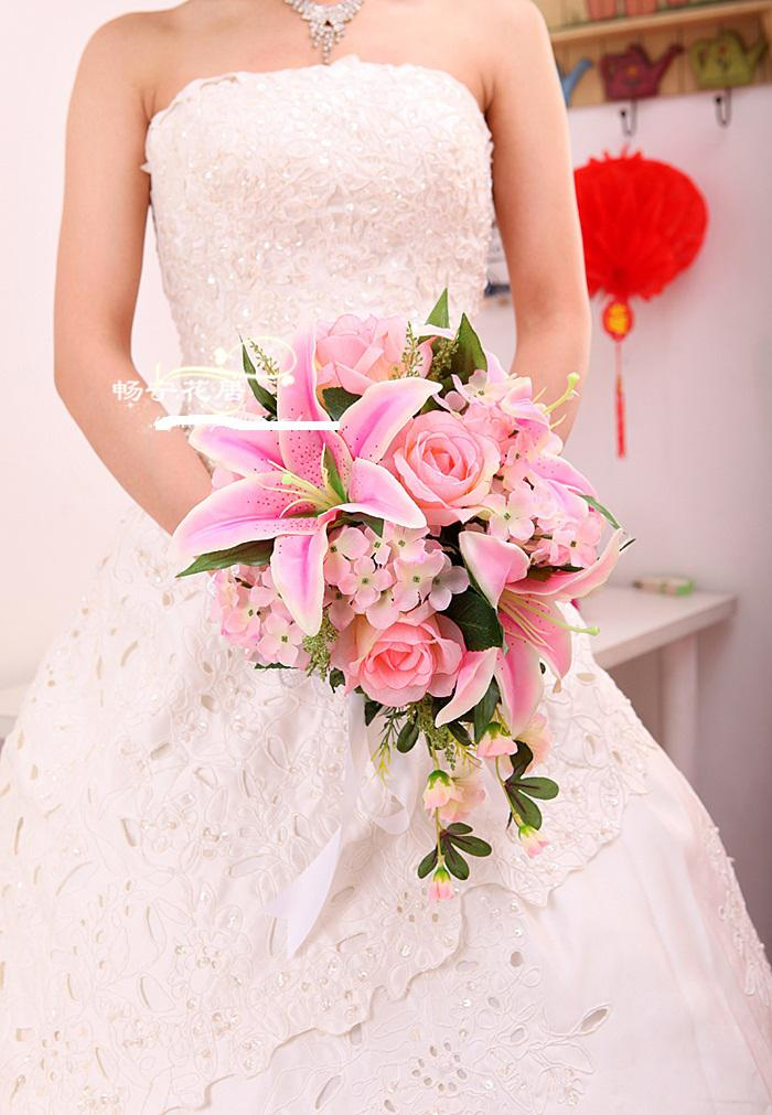 Wedding Bouquet Bride Bouquet Artificial Wedding Bouquets Silk ...