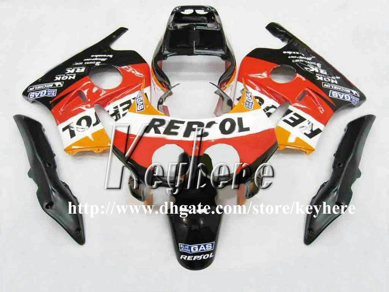 Kit 7 pièces de carénage personnalisé pour Honda CBR250 91 92 93 94 95 96 97 98 MC22 1991 1992 1998 carénages G3h nouvelles pièces de moto orange REPSOL