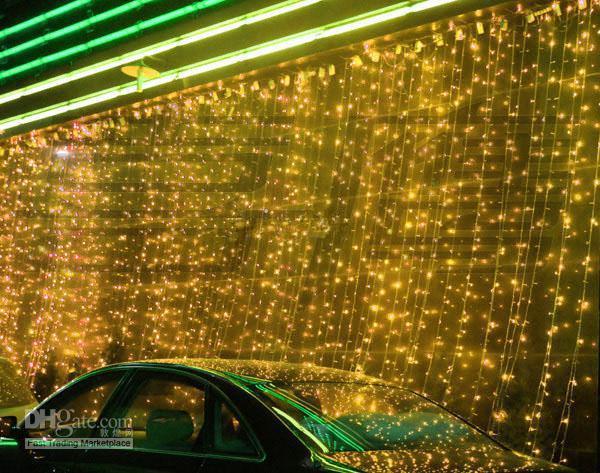 Luce a LED a cascata luce natalizia / decorazione matrimonio 1000LED dimensioni 10 * 3 metro bianco puro, bianco caldo, blu, giallo, rosso L102