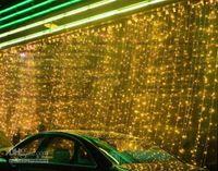 cortinas brancas de cachoeira venda por atacado-Luz da cachoeira da luz da cachoeira do diodo emissor de luz para o Natal / decoração 1000LED do casamento tamanho 10 * 3meter branco puro, branco morno, azul, amarelo, vermelho L102