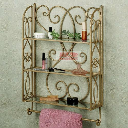 Wrought Iron Towel Rack Bathroom Rack Bathroom Wall Storage - Wrought iron bathroom wall shelves