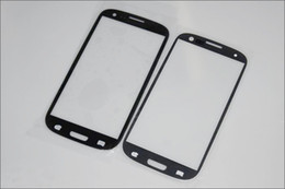 Wholesale S3 White Screen Replacement - For i9300 Glass Digitizer Cover Replacement Screen Glass Len for Samsung Galaxy S3 I9300 White Black