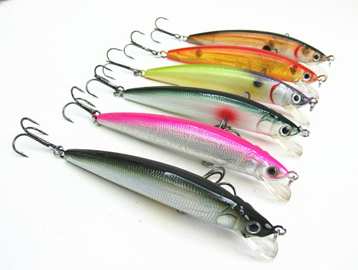 Fishing tackle minnow fishing lure hard bait false plastic for Types of fishing lures