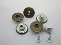 Wholesale Sewing Buttons 17mm - Free Shipping 100Sets Lot No-Sew Jean Tack Buttons 17mm Brass Clothing Button