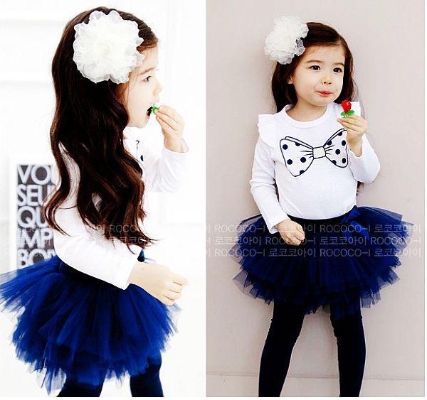Completo da bambina farfalla Completo da uomo T-shirt a manica lunga + abiti leggings TUTU set di pettiskirt completo bebé bambina Completi bambini Completi