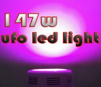 ufo led ışık kapalı toptan satış-147 W LED Büyümek Işık 10 Spektrumları IR Kapalı Topraksız Sistem Tesisi UFO 49 * 3 W led ışık