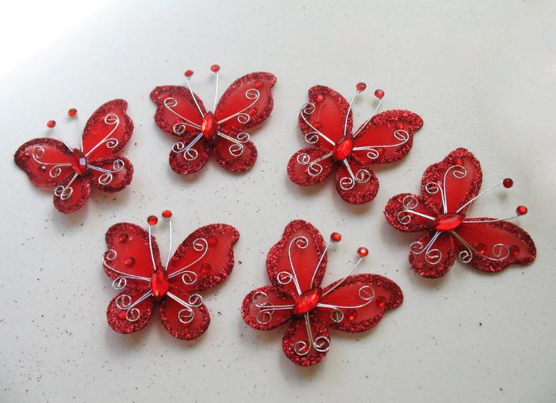 diy organza butterflies craft wedding party decoration wedding