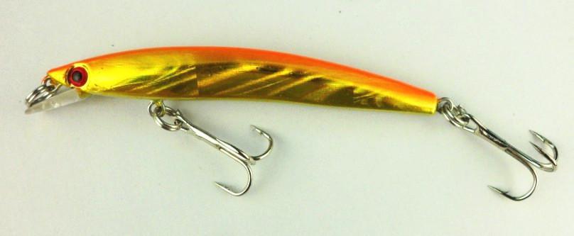 Nuevos señuelos 80mm duro cebos Minnow señuelos de pesca 8cm 5G # 6 ganchos de aparejos de pesca es dos ganchos MI039 el envío libre