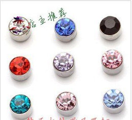 Wholesale Earring Piercing Stud - 50pairs lot Free shipping hot sale Magnetic earring studs ,Non pierced ear jewelley
