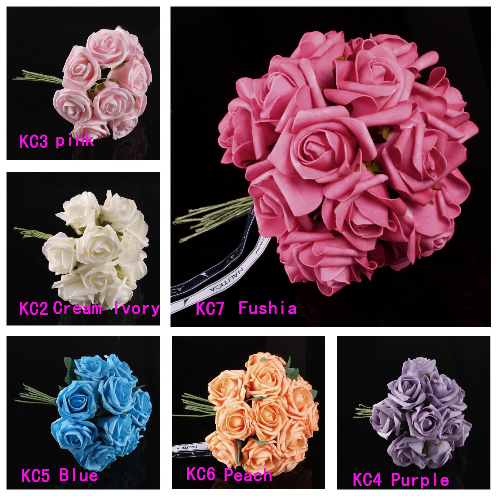 Latex Real Touch Flowers Bouquets Rose Bridal Wedding Bouquet