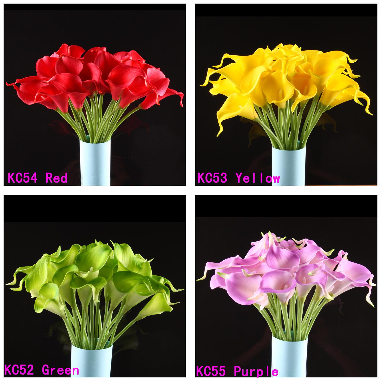 Calla lily bridal wedding bouquet 20 head latex real touch flower calla lily bridal wedding bouquet 20 head latex real touch flower bouquets fresh flower bridal bouquets gerberas wedding flowers from etongwolf izmirmasajfo