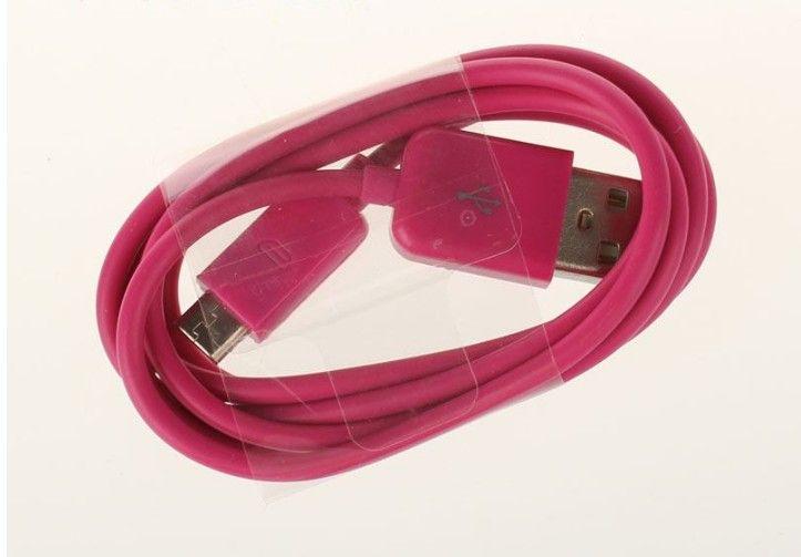 Coloré 1M 3FT 5pin V8 Micro charge câble du chargeur de synchronisation de données USB Cordon universel pour Samsung S3 / HTC Câble USB Blackerry pour l'usine