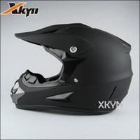 Wholesale Motorcycle Matt Black Helmet - The XKYN Free shipping Pure matt black motorcycle helmet,off-road helemt.dot Motocross helmets gear